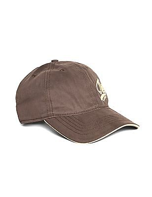 Flying Machine Brown Embroidered Twill Cap
