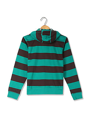 U.S. Polo Assn. Kids Boys Striped Hooded Sweatshirt