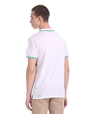 Ruggers Regular Fit Stripe Chest Polo Shirt