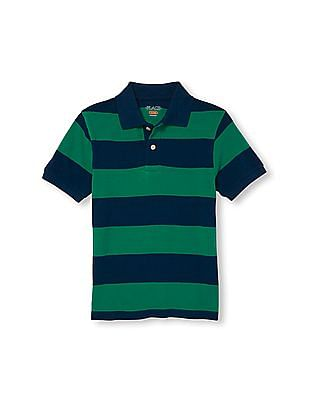 The Children's Place Boys Short Sleeve Rugby Stripe Pique Polo