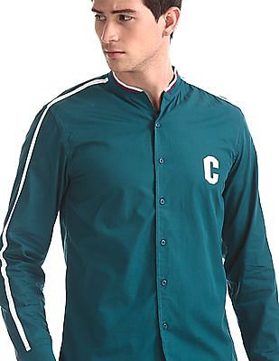 Colt Green Bomber Style French Placket Shirt