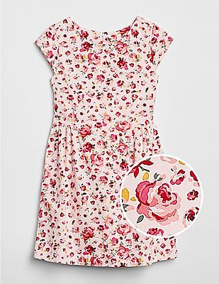 GAP Girls Floral Fit and Flare Dress
