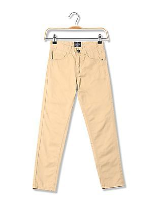 Cherokee Boys Mid Rise Solid Trousers