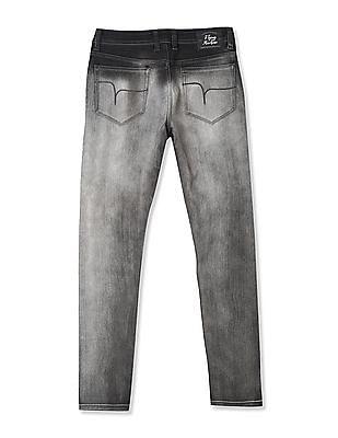 Flying Machine Black Jackson Skinny Fit Low Waist Jeans