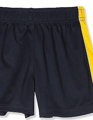 The Children's Place Toddler Boy Blue Matchables Colour block Mesh Pieced Knit Shorts