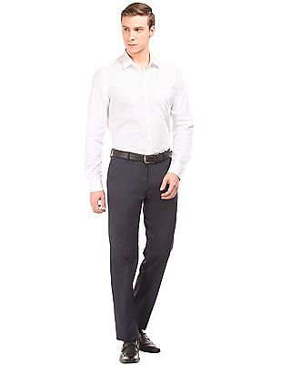 Arvind French Placket Slim Fit Shirt