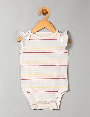 GAP Baby Striped Flutter Sleeve Bodysuit