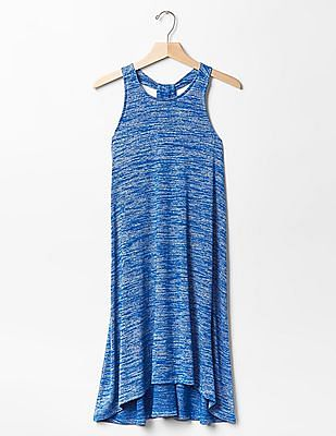 GAP Women Blue Softspun Knit Racerback Dress