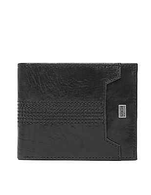 Flying Machine Grained Bi-Fold Leather Wallet