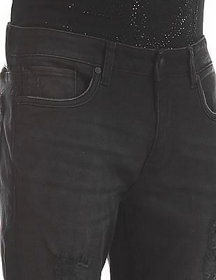 Ed Hardy Dagger Super Slim Fit Distressed Jeans