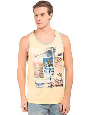 Aeropostale Graphic Print Scoop Neck Tank