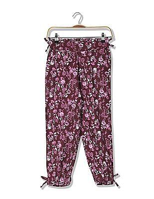 Cherokee Girls Printed Woven Pants