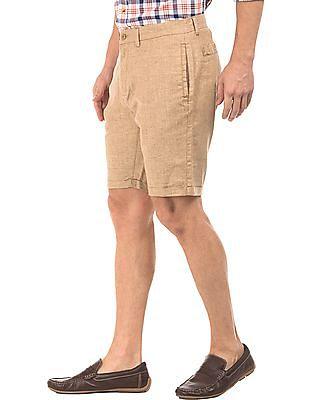Cherokee Slim Fit Linen Viscose Shorts