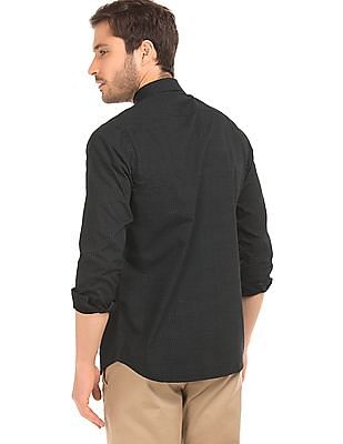 Excalibur Printed Super Slim Fit Shirt