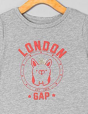 GAP Toddler Girl Logo Graphic Short Sleeve T-Shirt