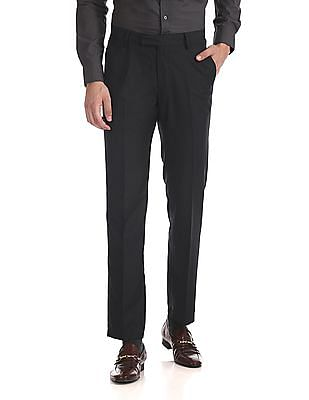 USPA Tailored Tailored Regular Fit Patterned Trousers
