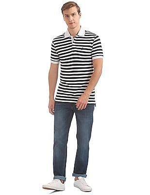 Nautica Short Sleeve Stripe Deck Classic Polo