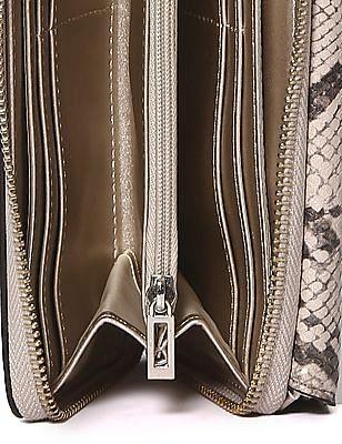 GUESS Metallic Branding Three Fold Wallet