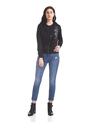 SUGR Embroidered Zip Up Jacket