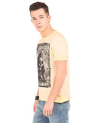 Ed Hardy Regular Fit Washed Printed T-Shirt
