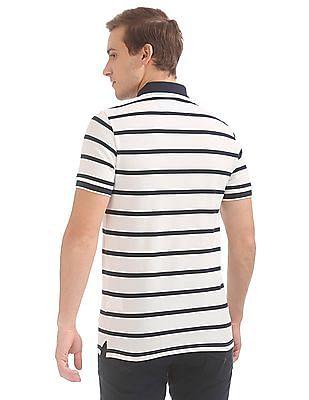 Gant Breton Stripe Pique Short Sleeve Rugger Polo