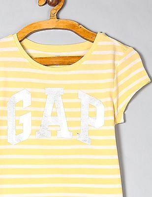 GAP Girls Logo Stripe T-Shirt