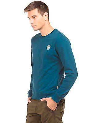 Flying Machine Solid Long Sleeve Sweatshirt