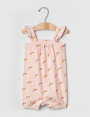 GAP Baby Pink Rainbow Flutter Shortie One-Piece