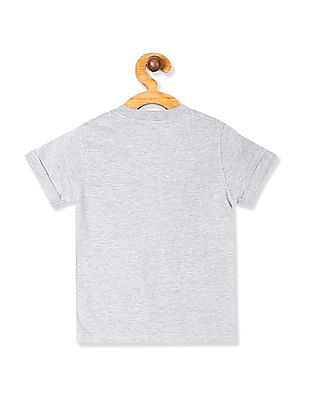 Cherokee Grey Boys Heathered Henley T-Shirt