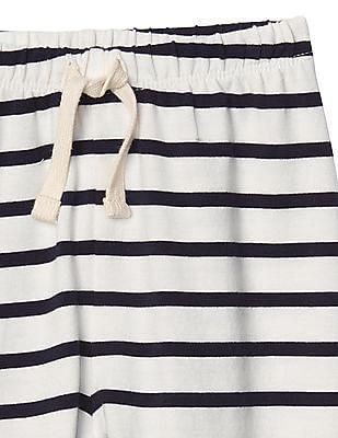 GAP Baby White Print Stretch Jersey Pants