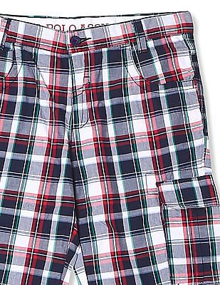 U.S. Polo Assn. Kids Boys Check Cargo Shorts