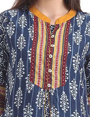 Anahi Floral Print Layered Kurta