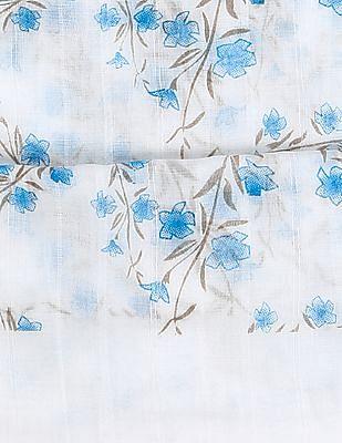 SUGR Fringed Hem Floral Print Stole