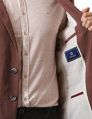 True Blue Slim Fit Knitted Blazer