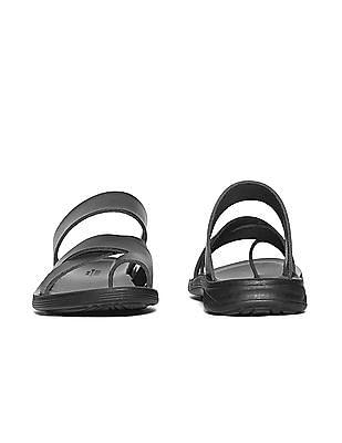 Arrow Dual Strap Leather Sandals