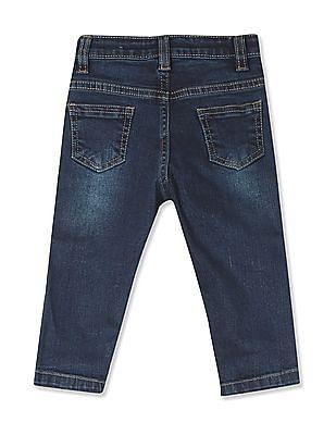 Donuts Boys Stone Wash Applique Patch Jeans