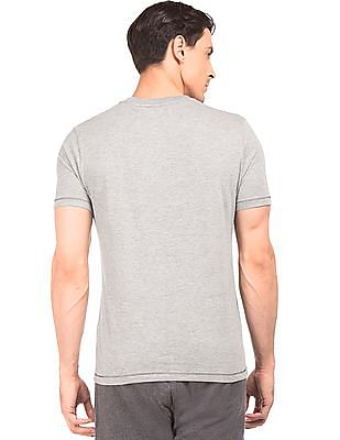 Aeropostale Heathered Round Neck T-Shirt