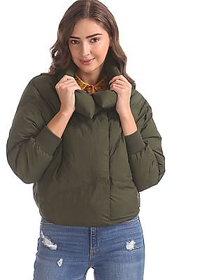 U.S. Polo Assn. Women Green Dolman Sleeve Quilted Jacket
