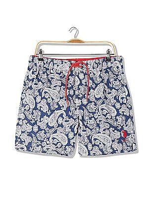 U.S. Polo Assn. Paisley Print Mid Rise Shorts