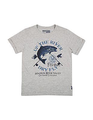 FM Boys Boys Melange Slim Fit T-Shirt