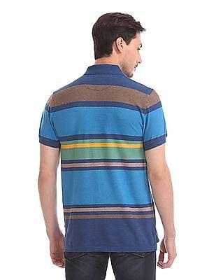 U.S. Polo Assn. Short Sleeve Striped Polo Shirt