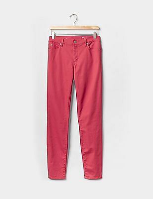 GAP Women Red Authentic 1969 True Skinny Jeans