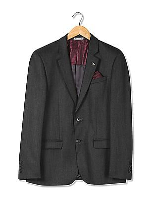 Arrow Tailored Fit Patterned Blazer