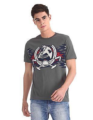 U.S. Polo Assn. Denim Co. Grey Crew Neck Graphic T-Shirt