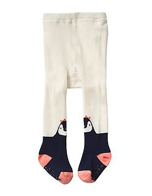 GAP Baby White Penguin Sweater Tights