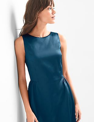 GAP Structured Satin Fit And Flare Dress