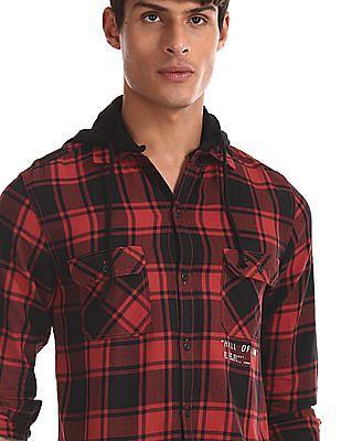 Colt Red Detachable Hood Check Shirt