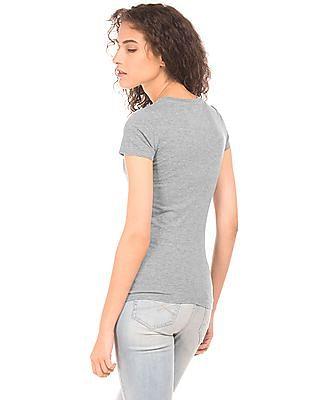 Aeropostale Brand Applique Heathered T-Shirt