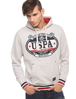 U.S. Polo Assn. Denim Co. Heathered Hooded Sweatshirt