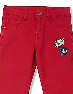 Cherokee Boys Slim Fit Appliqued Jeans